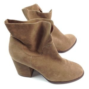 Altar'd State tan suede booties